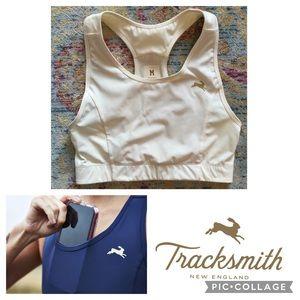 Tracksmith Allston Run Bra Stash Sport Crop Top